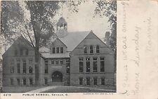 C47/ Seville Medina County Ohio Postcard 1906 Public School Building