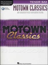 Motown Classics Tenor Sax Saxophone Play-Along Sheet Music Book with Audio