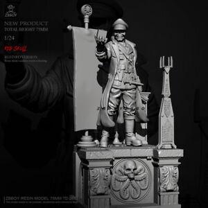 1:24 resin figures model kit Red Demon Skull TD-2673 Unassembled Unpainted
