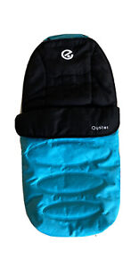 Babystyle Oyster Footmuff Cosy Toes seat liner black with blue