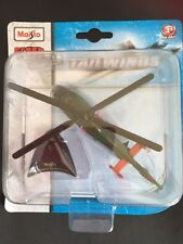 Maisto Fresh Metal Tailwinds die cast model on stand  AEROSPATIALE SA 365 DAUPHI