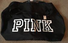 Victorias Secret PINK Duffel Gym Bag Black NWT Free Shipping