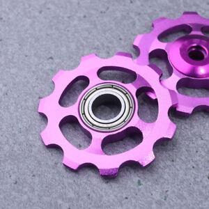 2Pcs Wheel Rear Derailleur Parts Aluminum 11T Jockey Pulley Mountain Bike Cycle
