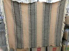 "Amana Woolen Mills Brown & Cream 100% Wool Blanket 56"" x 70"" (Nh)"