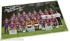 0797OPE Opel Poster Beilage Magazin Start FC Bayern München 1996 Otto Rehhagel