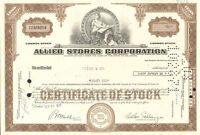 Allied Stores Corporation old stock certificate share