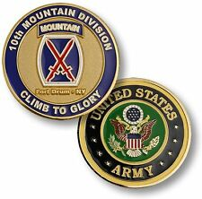 """U.S. Army / 10th Mountain Division, Fort Drum - """"Climb to Glory"""" Challenge Coin"""