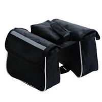 Cycling Bicycle Bike Top Frame Pannier Saddle Front Tube Bag Double Pouch Holder
