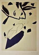 MIMMO PALADINO Pencil SIGNED Original Color Lithograph 30/150 RARE Art OLYMPICS