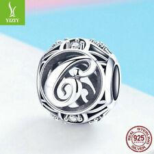 Charm Anhänger f. Pandora love Herz Liebe Buchstabe C Glück 925 Sterling Silber