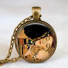 Collana con Ciondolo Gustav Klimt - Il Bacio - Colore Bronzo