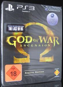 PS3 GOD OF WAR ASCENSION - Steelbook - USK 18 - UNCUT - Playstation 3 ** NEU **