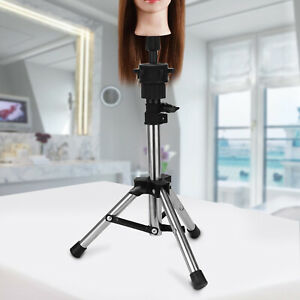 Wig Head Stand Mannequin Tripod Hairdressing Training Holder For Hair-styling