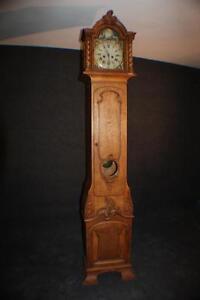 Uhr, Standuhr Barock, Eiche um 1900 mit Glocken Schlag Rokoko Historismus * 2453