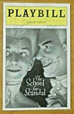The School For Scandal Cast Signed Playbill with Tony Randall