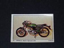 #45 BENELLI SPORT SPECIAL 250 ITALIA MOTO 2000 PANINI EDITIONS DE LA TOUR 1973