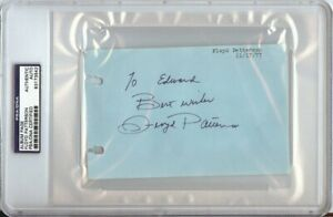 Floyd Patterson Signed Autographed Album Page Cut Boxing Legend PSA/DNA Slabbed