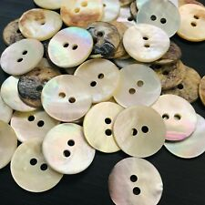Wholesale Shell Button Lot 100 15mm 24L Agoya Natural Crafts Mother of Pearl