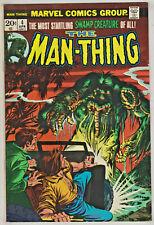 MAN-THING#4 VF 1974 ORIGIN FOOLKILLER MARVEL BRONZE AGE COMICS