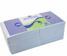 WHITE NAPKINS 1 PLY SOFT 1000 PACK SERVIETTES TAKEAWAY DISPOSABLE 30 X 30CM