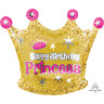 "Girls Birthday Princess 20"" Foil Balloon Gold & Pink Party Decoration"