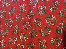 CHRISTMAS CANDY CANES  100% COTTON FABRIC NEW QUILT FAT QUARTER #17