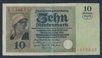 Deutsches Reich Rosenbg: 163 gebraucht (III) 1925 10 Rentenmark (8981304