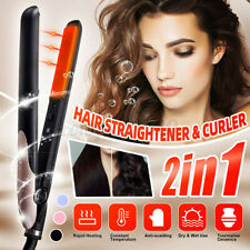2 in 1 Professional Hair Straightener & Curler Flat Iron Curling Hair Styler