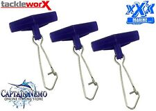 FISHING EASY SLIDER RIGS QTY: 25 SINKER SLIDER SINKER CLIP - MEDIUM BLUE TP300BU