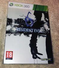 Resident Evil 6  - XBOX 360 PAL FR - Steel Book - Complet
