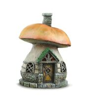 Mushroom Cottage Fairy House for Fairy Garden or Miniature Garden Fiddlehead