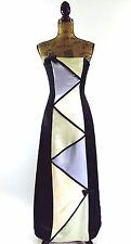 Jessica McClintock Gunne Sax evening gown dress S 3 4 pastel mosaic long party
