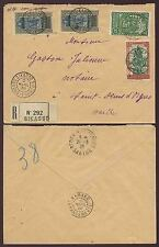 FRENCH SAHARA MALI SIKASSO REGISTERED MULTI FRANKING 1938