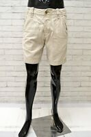 Bermuda Uomo HOLLISTER Taglia 3 Jeans Pantalone Pants Pantaloncino Shorts Beige