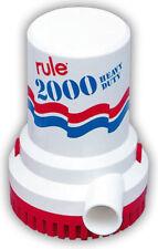 Boat Marine Bilge Pump - Non Automatic Rule 2000 G.P.H GPH - RULE 12 - 24V- 4A