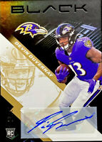 🔥 2020 Devin Duvernay RC Auto /25 Panini Black Gold Parallel CLEAN! Ravens