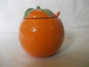 Vintage/Retro Next Orange Shaped Marmalade Pot Original Ceramic Spoon