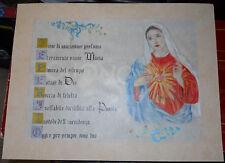 DISEGNO PERGAMENA MADONNA MARIA MINIATO A MANO 41 X 31