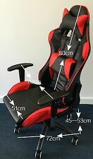 Sports car computer game chair with lumber support and headrest