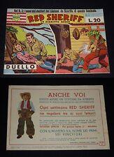 ***RED SHERIF-LO SCERIFFO ROSSO*** ALBI OMEGA N. 3 ED. ZENITH 15 NOVEMBRE 1950