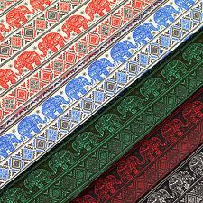 Cotton Fabric per FQ Indian Elephant Tribe Aztec Ethnic Stripe LuckyFabrics VS11