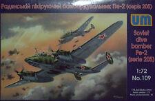 Um 1/72 109 Wwii Soviet Dive Bomber Pe-2 (205 Series )