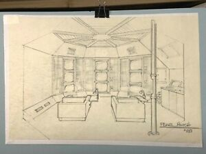"ABC LOST TV Show Season 2 Dharma ""Original"" Artwork of the Pearl Hatch in Pencil"