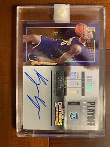 2017-18 Panini Contenders Kyle Kuzma Playoff Ticket Rookie RC Auto /35 Lakers SP