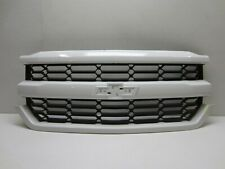 CHEVY SILVERADO 1500 2016 2017 2018  FRONT GRILLE WO/ EMBLEM OEM  WHITE  PAINTED