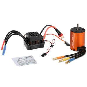 GoolRC Upgrade 3650 4300KV Brushless Motor Waterproof with 60A ESC Combo Kit UK