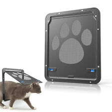 Automatic Pet Dog Cat Screen Door Window Screen Flap Door for Medium Large Pets