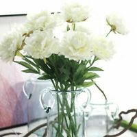 US 5 Stems Peony Artificial Bouquet Garden Wedding Party Bride Decor Flowers