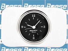 37 38 Chevy Car Billet Aluminum Insert w/ Auto Meter Old Tyme Black Clock