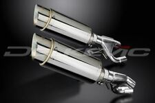 """Delkevic 8"""" Stainless Steel Round Slip On Muffler - Yamaha VMX1200 84-07 Exhaust"""